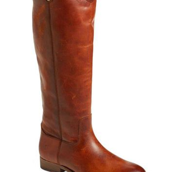 ICIKAB3 Frye Cognac Melissa Button 2 Cognac Leather Boots
