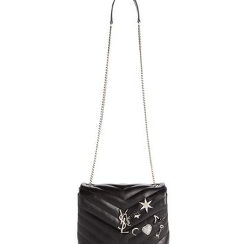 Saint Laurent Small Monogram - Charms Leather Crossbody Bag | Nordstrom
