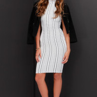 Been Trying to Meet You Ivory Print Midi Dress