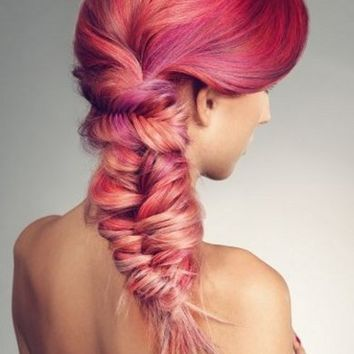 Vibrant Pink Hair Highlights Ideas