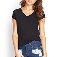 FOREVER 21 PLUS Favorite V-Neck Tee