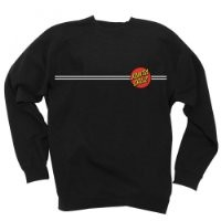 Santa Cruz Men's Classic Dot Crew Neck Sweatshirt Medium Navy