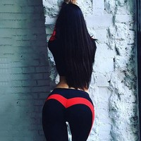 ONETOW Push Up Heart Hips Leggings Patchwork Fitness Workout Legging Black Adventure Time Women Activewear Sexy Legging Pants