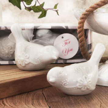 Love Birds Fine Porcelain Salt and Pepper Shakers