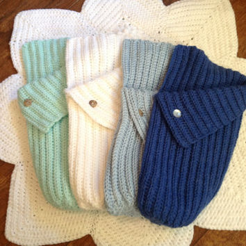 Hand Crochet Baby Cocoon Blanket Wrap MORE COLORS Many Sizes ( 20 inch length shown)