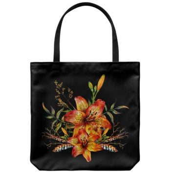 Tiger Lily Bouquet v2 - Tote Bag