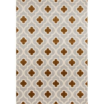 2027 Gray-Yellow Moroccan Trellis Area Rugs