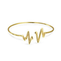 Bling Jewelry Beating Heart Bangle