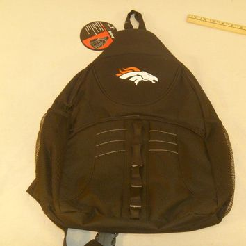 2017 Denver Broncos Sling Backpack School Bag Book One Strap laptop 20x6.5x13
