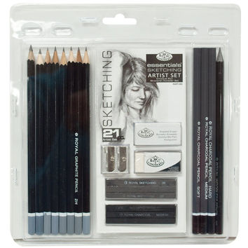 Royal & Langnickel Essentials Sketching Pencil Set 21-Piece Sketch Set