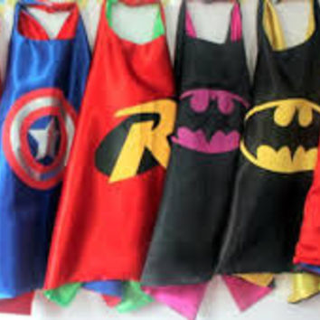 SALE! Ready To Ship! Superhero Cape-Batman,Spiderman,Capt America,Superman,Party Favors,Superhero Capes,Super Hero Capes,Super Hero Party