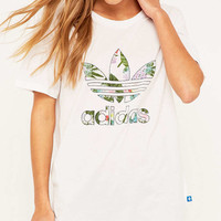 adidas Originals White Boyfriend T-shirt - Urban Outfitters