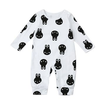 Cute Newborn Baby romper Kid Baby Rabbit Baby Clothes Boys Girls OutfitsRomper Jumpsuit drop ship