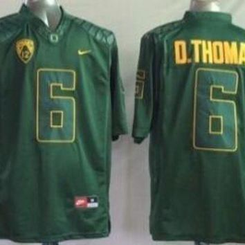 DCCKD9A Nike Oregon Ducks D.Thomas #6 College  Ice Hockey Jerseys Size M,L,XL,XXL,3XL