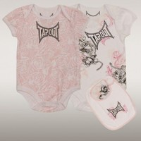 Tapout Snakebud Baby Pink Infant Girl 3-piece Set