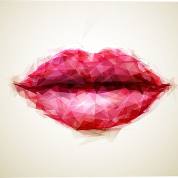 Beautiful Woman Lips Formed Figurative Canvas Wall Art Print