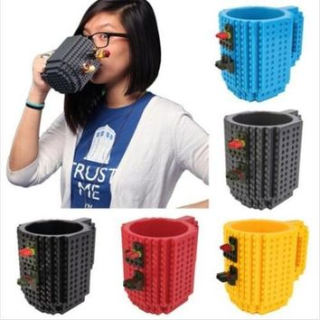 Star Wars Force Episode 1 2 3 4 5 350ml Creative Build-On Brick Mug Building Blocks Coffee Milk Cup DIY Block Portable  3D Puzzle Drinkware Drinking Mug AT_72_6