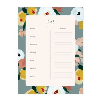 OUR HEIDAY DUSK FLORALS FEAST PAD