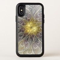 Flourish With Gold Modern Abstract Fractal Flower OtterBox Symmetry iPhone X Case