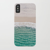 Paradise beach turquoise sea ocean nature travel hipster Caribbean Fiji landscape photograph iPhone Case by iGallery