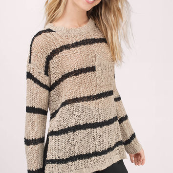 Cambria Striped Knit Sweater