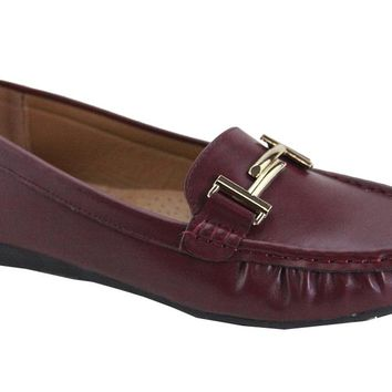Double T Loafer (BURGUNDY)