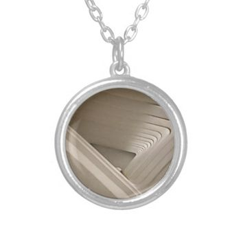 Modern Museum Silver Plated Necklace