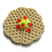 Waffle Soap - Breakfast Soap - Unique Soap - Fake Food Soap - Funny Gift for Him - Novelty Food Soap - Strawberry Soap - Butter Soap