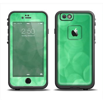 The Light Green Unfocused Orbs Apple iPhone 6 LifeProof Fre Case Skin Set
