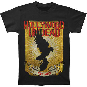 Hollywood Undead Men's  Golden Dove T-shirt Black Rockabilia
