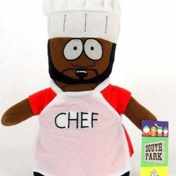 "Chef with apron 10"" South Park Plush Doll Soft Stuffed Toy Figure Nanco-New!"