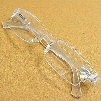 Men Women White rimless resin PC Presbyopia reader eyeglasses  Plastic frame reading glasses Diopter 1.0 2.0 to 4.0 016