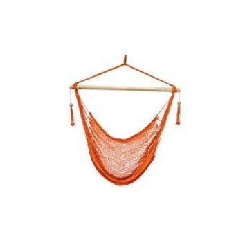 Laid Back - Easy hang Island Rope Hammock Chair - Orange
