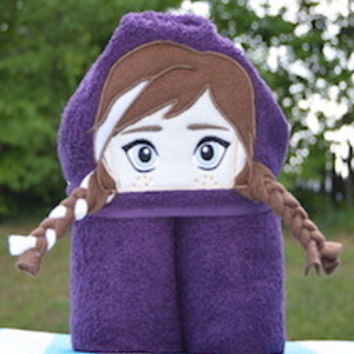 Ice Princess (Ice Queens Sister) Hooded Towel