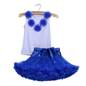 Lovely multi color flower  pettiskirts tutu  dress  for baby and girls party dance tutu sunny dress    Free shipping