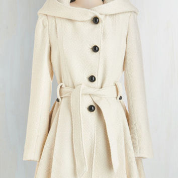 60s Long Long Sleeve Once Upon a Thyme Coat in Almond