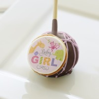 Jungle Safari Design | Pink for Baby Girl Cake Pops