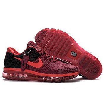 """NIKE"" Trending Fashion Casual Sports Shoes Air Max Sneakers Burgundy"