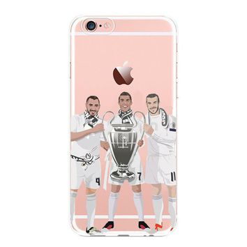 Case Cover For Iphone 5 6 7 8 8 Plus X 10 Apple Ronaldo Bale Benzema Real Madrid