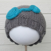 Dual Spiral Beanie - Hand knit, made to order, colors and sizes to choose from