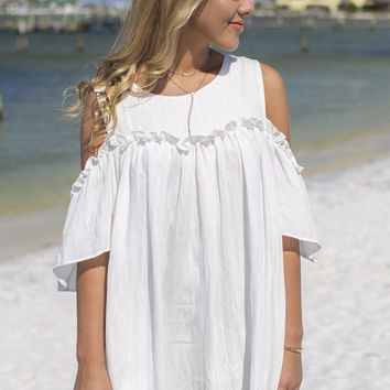 Remember When Cream Dress Ruffle Dress