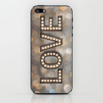 Love is the Light of Your Soul (LOVE lights) iPhone & iPod Skin by soaring anchor designs ⚓ | Society6