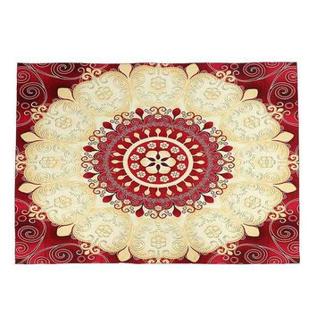 ICIKJG2 1pc Indian Mandala Tapestry Sandy Beach Towel Throw Yaga Mat Rug Blanket Wall Hanging Bedspread Travel Mattress Sleeping Pad