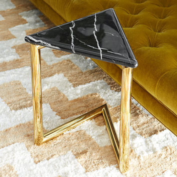 Ultra Triangle Marble Side Table
