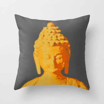 Buddha Throw Pillow by Snapstar Creative