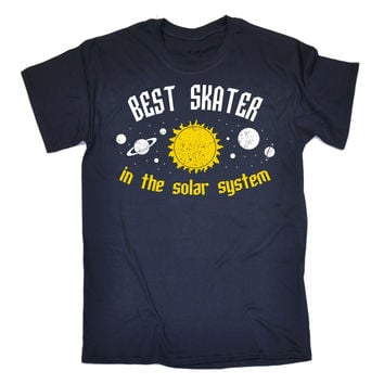 123t USA Men's Best Skater In The Solar System Galaxy Design Funny T-Shirt