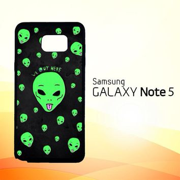 Alien We Out Here X4148  Samsung Galaxy Note 5 Case