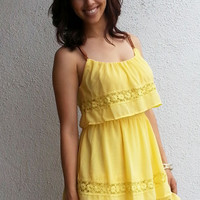 Pilar Day Dress - Lemon