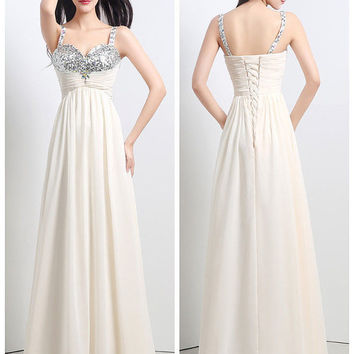 A-Line Prom Party Empire Sweetheart Champagne Ball Gown Cocktail Dress Custom Made {Free Shipping}