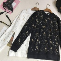 DCCKN6V Givenchy Fashion Long Sleeve Top Sweater Embroider Sweatshirt